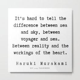 52   |  Haruki Murakami Quotes | 190811 Metal Print
