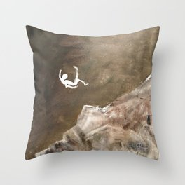 Life is a Series of Falls Throw Pillow