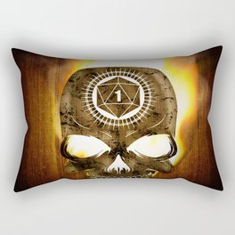 D20 Death Comes for Us All Rectangular Pillow