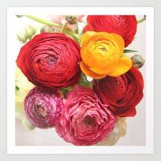 (Ranunculus) Flowers - For You! Art Print