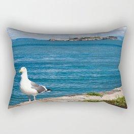 Seagull in San Francisco Rectangular Pillow
