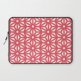 Asanoha Pattern - Coral Laptop Sleeve