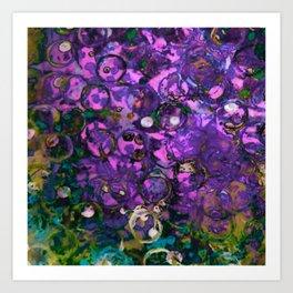 bottle cap violets Art Print