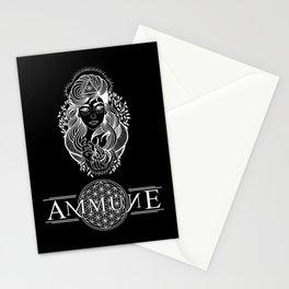 Mercy Black w/ White Stationery Cards