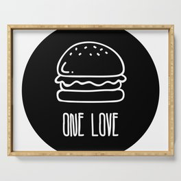 ONE LOVE, BURGER LOVE Serving Tray