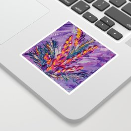 Tropical Blooms in a Vase Sticker