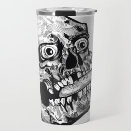 Skull with a Wicked Tongue Travel Mug