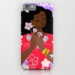Larkspur in July iPhone Case
