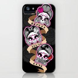 Wise Skulls iPhone Case