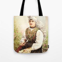 Romanian Gypsy girl Tote Bag