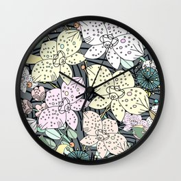 Orchids in Bloom Wall Clock