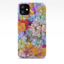 Rainbow Flower Shower iPhone Case