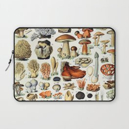 Adolphe Millot - Champignons A - French vintage poster Laptop Sleeve