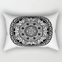 Black Mandala Rectangular Pillow
