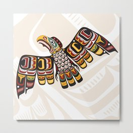 Coast Salish Eagle Metal Print