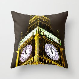 Big Ben in HDR Throw Pillow