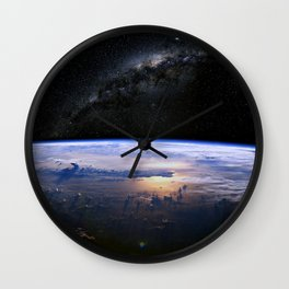 Earth is Round Wall Clock