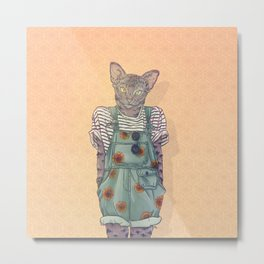Daisy the Abyssinian Cat Metal Print