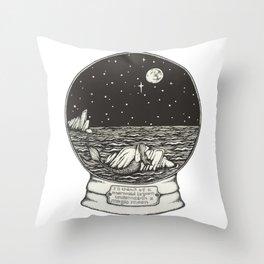 Mermaid Snow Globe Throw Pillow