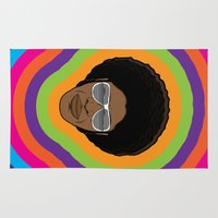 afro Area & Throw Rugs featuring Afro Funky by Roberlan Borges