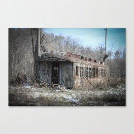 Lonely Railcar Canvas Print