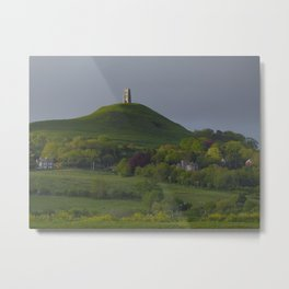 Glastonbury Tor in sun Metal Print