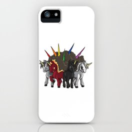 The Four Unicorns Of The Apocalypse iPhone Case