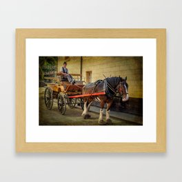 Horse And Cart Framed Art Print