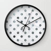 holographic Wall Clocks featuring marbled holographic confetti  by spankrock susanna