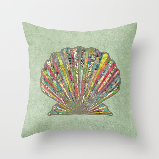 Sea Shell Throw Pillow