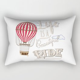 Retro Hot Air Balloon Balloonist Optimism Optimist Gift Rectangular Pillow