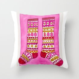 The Holiday Sox Throw Pillow