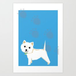 Coco Scottish terrier Art Print