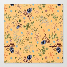 Winterpattern2 Canvas Print