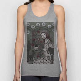 When it Snows Outside (My Secret Garden) Unisex Tank Top