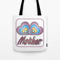mother Tote Bags featuring Mother by Mike van der Hoorn