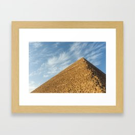 Pyramid of Khufu (Cheops), Giza, Egypt Framed Art Print