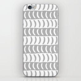 Wavy Stripes Gray 2 iPhone Skin