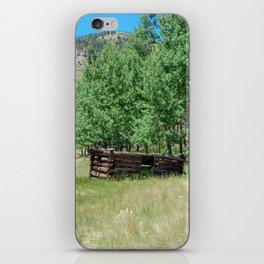 Rustic Mountain Cabin iPhone Skin