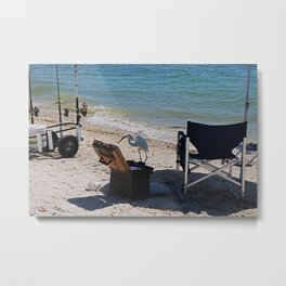Trolling for Tackle Metal Print