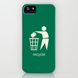 Recycle Your Monsters iPhone Case