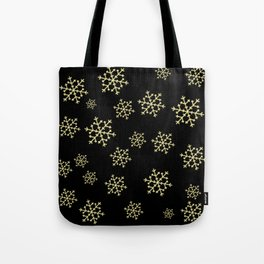 Golden Snowflakes Tote Bag