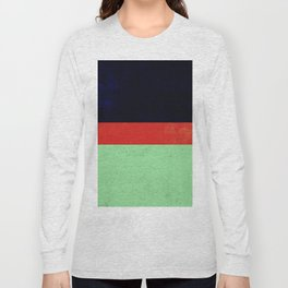 Navy, red and mint design Long Sleeve T-shirt