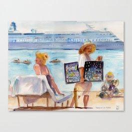 Plata en la Playa Canvas Print
