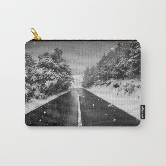 """The road"". Bw Carry-All Pouch"