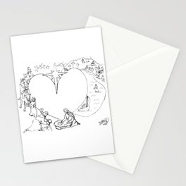 Wrapped in the arms of His love sketch Life of Christ Nativity to Resurrection Stationery Cards