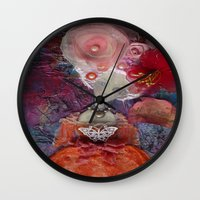 marie antoinette Wall Clocks featuring Marie Antoinette by inara77