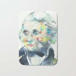 HORATIO NELSON - watercolor portrait Bath Mat