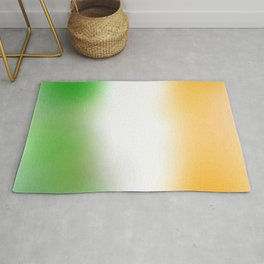flag of Ireland with cloudy colors Rug