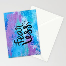 Fear Less Stationery Cards